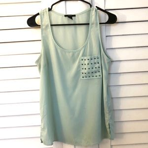 Forever 21 Sea Green Tank Size Small